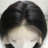 Wig straight black hair extension