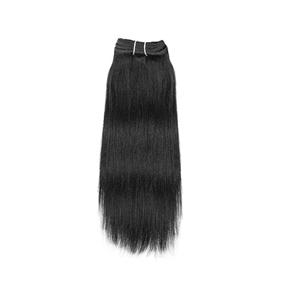 Weft yaki straight black hair VD2