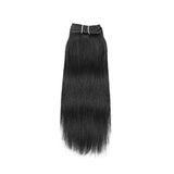 Weft yaki straight black hair VD1