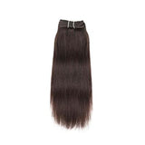 Weft yaki straight dark brown hair VS2