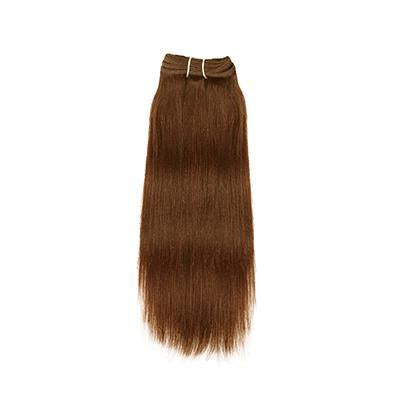 Weft yaki straight light brown hair extensions VD2