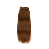 Weft yaki straight light brown hair extensions VS2