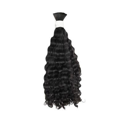 Bulk deep wavy black hair VD2