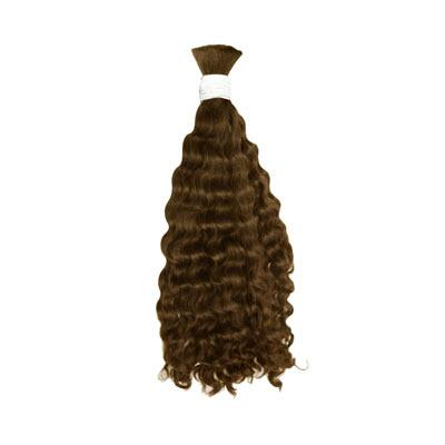 Bulk deep wavy light brown hair VD1