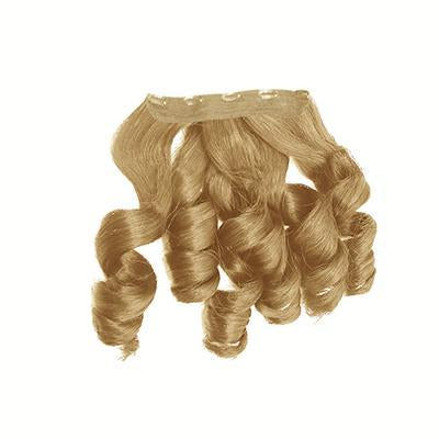 Clip in bouncy wavy blonde hair extensions