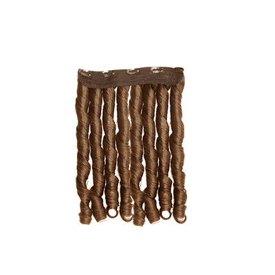 Clip in fumi curly light brown hair extensions