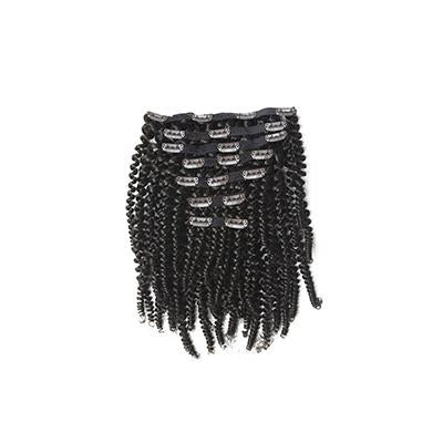 Clip in kinky curly black hair