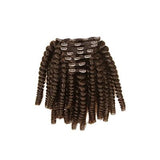 Clip in kinky curly dark brown hair