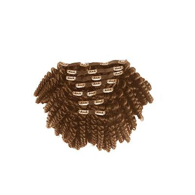 Clip in kinky curly light brown hair