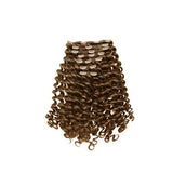 Clip in loose curly light brown hair extensions