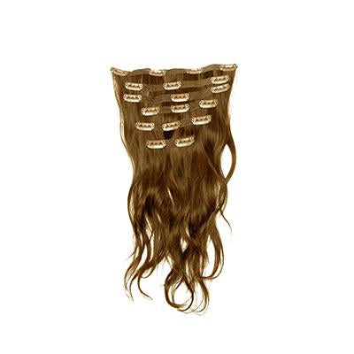 Clip in natural wavy light brown hair