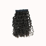 Clip in romantic curly black hair