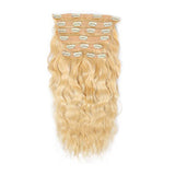 Clip in wavy blonde hair extensions