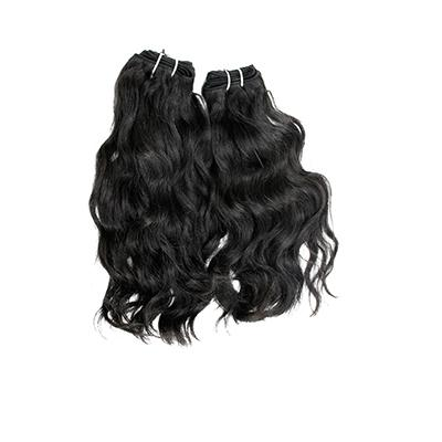 Weft natural wavy black hair VS1