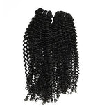 Weft deep curly black hair VS1