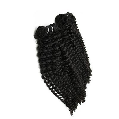 Weft deep curly black hair VS2