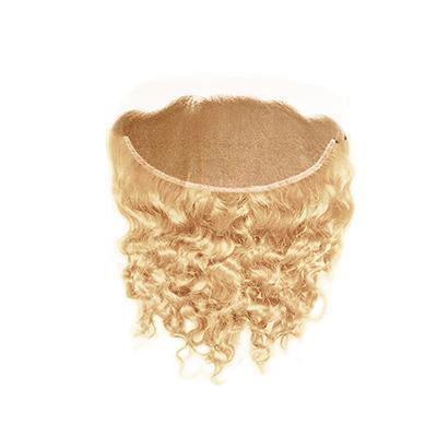 Lace frontal curly blonde color #60, #60C
