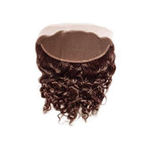 Lace frontal curly dark brown hair