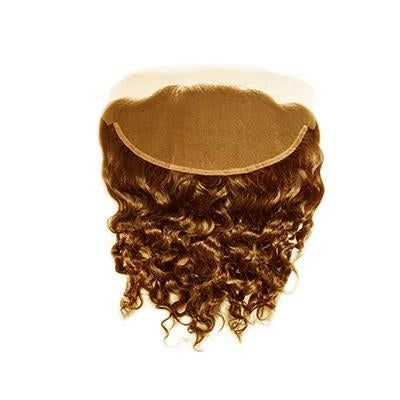 Lace frontal curly light brown hair extensions