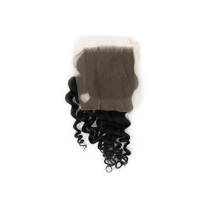 Lace closure curly black hair 4x4