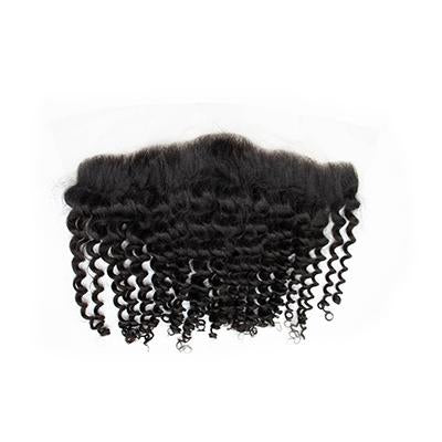 Lace frontal curly black hair