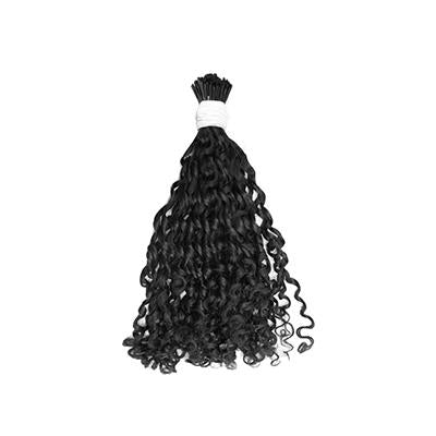 I tip romantic curly black hair