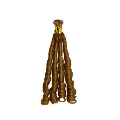 I tip fumi curly light brown hair extensions