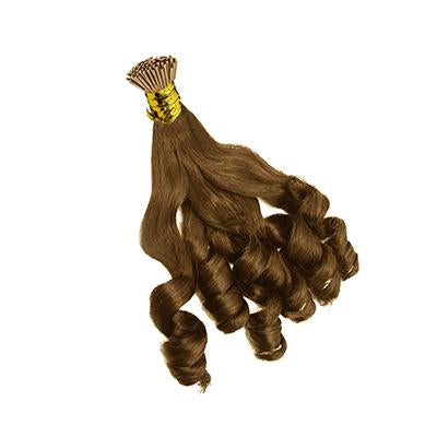 I tip bouncy wavy light brown hair