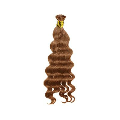 I tip loose curly light brown hair extensions