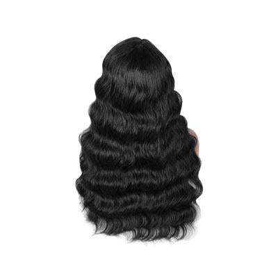 Wig wavy black hair extension