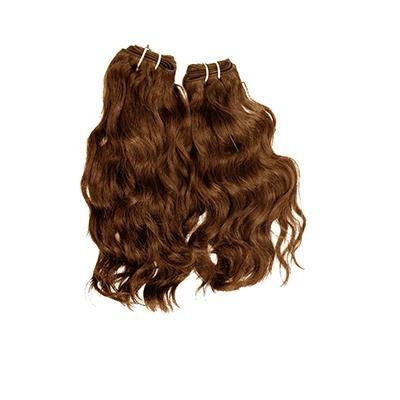Weft natural wavy light brown hair VD2