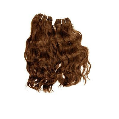 Weft natural wavy light brown hair extensions VD1
