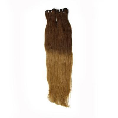 Weft straight ombre color #4 and #27 VS2