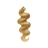 Tape body wavy blonde hair color
