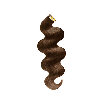 Tape body wavy dark brown hair extensions
