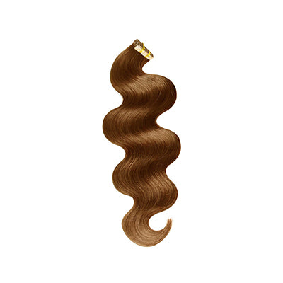 Tape body wavy light brown hair