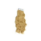 Tape natural wavy hair blonde color