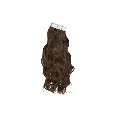 Tape natural wavy dark brown hair extensions