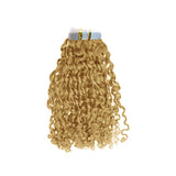 Tape hair romantic curly blonde color #60 and #60C