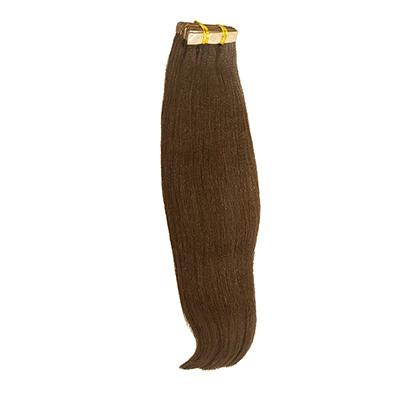 Tape yaki straight dark brown hair extensions