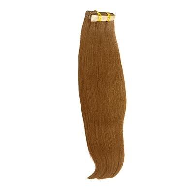 Tape yaki straight light brown hair extensions