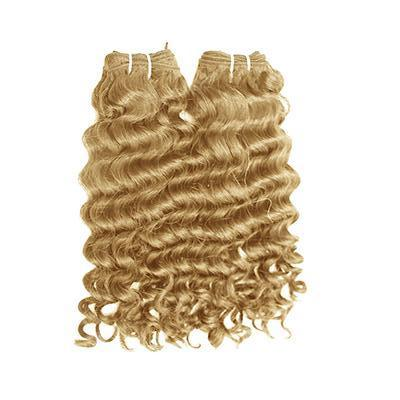 Weft deep wavy blonde hair extensions VD1