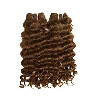 Weft deep wavy light brown hair VS1