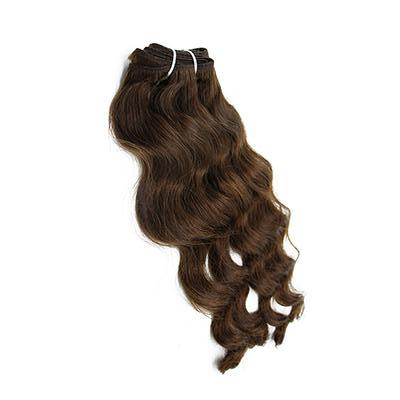 Weft body wavy dark brown hair VS1