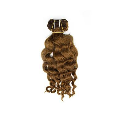 Weft body wavy light brown hair VS2