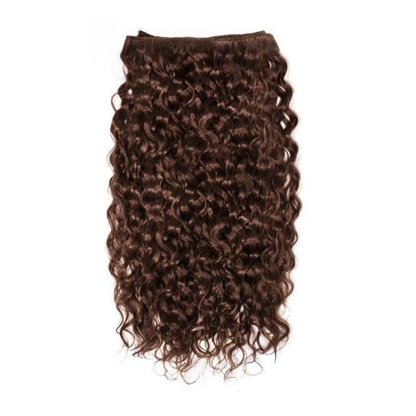 Weft curly dark brown hair VS1