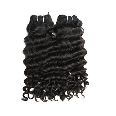 Weft deep wavy black hair VS1