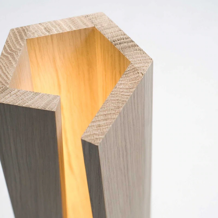 Fracture Modern Solid Wood Table Lamp Decoholicz