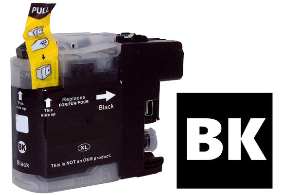 Brother LC1220 LC1240 LC1280 compatible black inkjet cartridge