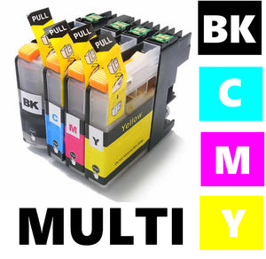 Brother LC123 compatible inkjet cartridge multipack